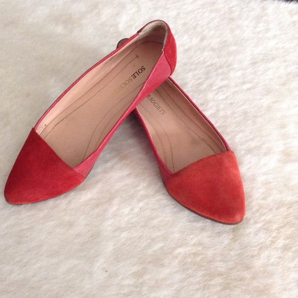 new product 091d8 bcf32 Red Sole Society Flats