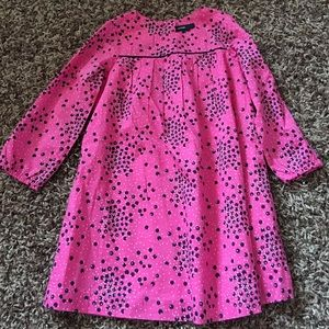 Pink dress with polka dots