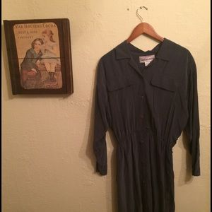 vintage silk shirt dress