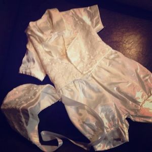 satin christening wedding shortalls Jon jons