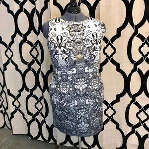 Lace Printed Ombré ASOS Curve Dress