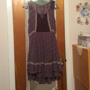 Miss Me Juniors Mauve High-Low Ruffle Boho Dress S