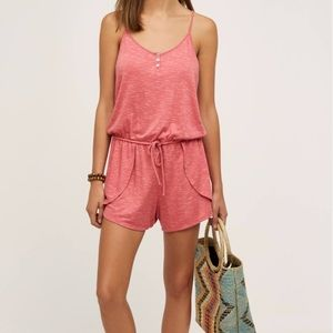 Anthropologie Terry Lounge Romper