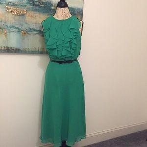 Kelly green sleeveless dress