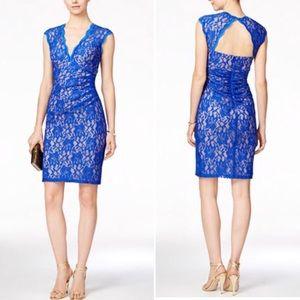 Xscape Dresses & Skirts - 💝🎉HP🎉 Stunning Open Back V Neck Lace Dress NWT