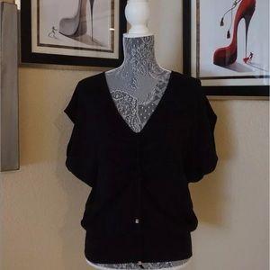 Michael Kors black sz M batwing sleeve blouse