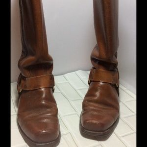 Extra Worn Frye Harness Motorcycle Boots Tan 6.5D