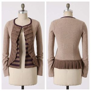 Amthropologie Masked Stripes Cardigan