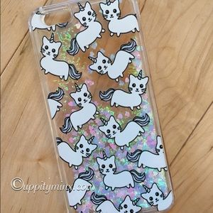 🆕 🎉 HP Caticorn Liquid Glitter iPhone Case