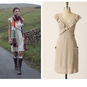 Anthropologie Converging Roads Sweater Dress