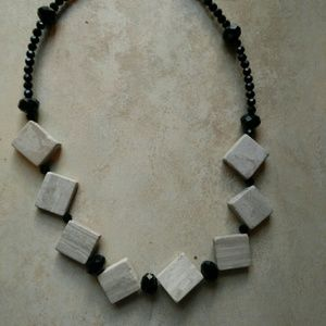 Jewelry - Marble and Crystal Beaded Necklace