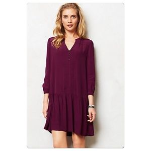 Anthropologie Galina Dropwaist Dress