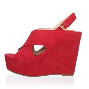 Dolce Vita Red Suede Wedges