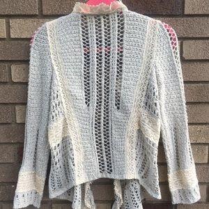 e1b9c5e7ff9b Anthropologie Sweaters - Anthropologie Salt And Pepper Fringe Cardigan