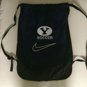 Nike BYU blue soccer draw string bag