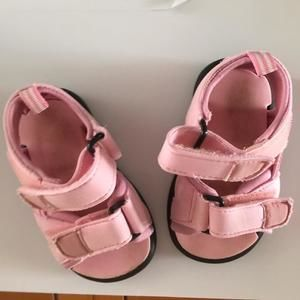 Other - Pink Sandals with Velcro straps