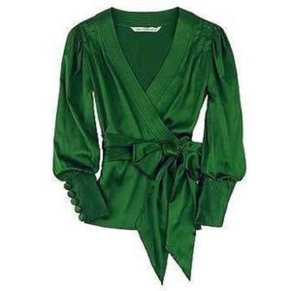 98ae82a4c657 Diane von Furstenberg Tops - DVF Emerald Green Ariana Blouse