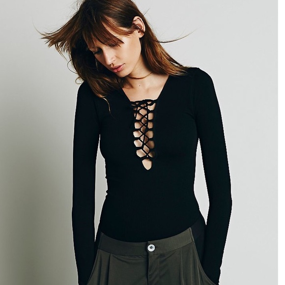 a2e02f455b Free People Lace Up Layering Top