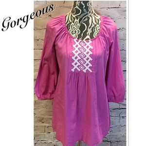 new directions Tops - NEW DIRECTIONS GORGEOUS HOT PINK TUNIC/TOP