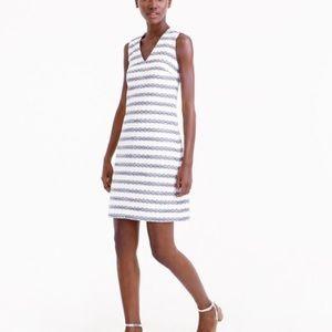 J. Crew Striped Tweed Dress
