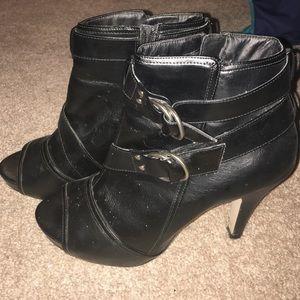 Madden Girl Shoes - Madden Girl peep toe heeled booties