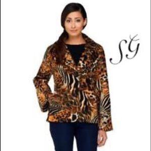 Susan Graver Jackets & Blazers - SUSAN GRAVER Oh -so- chic fleece.   NWOT