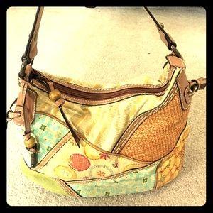 Fossil Handbags - Fossil multi color hobo purse handmade very cute