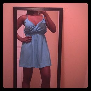 Blue Wrapfront Dress