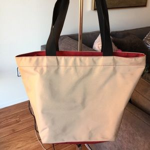 herve chapelier  Handbags - 🆕tan/red tote
