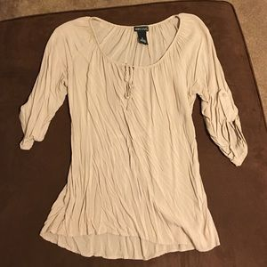 Wet Seal High Low Peasant Blouse