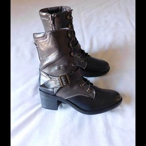 UNIONBAY Shoes - Chic Brown Chunky Heel Booties W/ Buckles-Straps