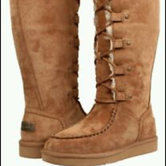 f5e169542a3 Uggs lace up moccasin boots, women's 9 brand new!
