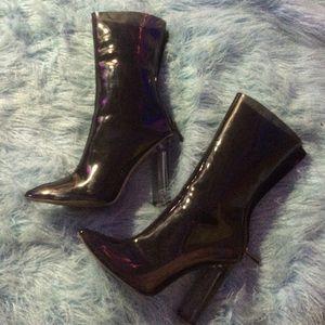 Black Friday saleBlack pvc clear heels