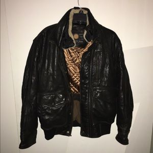 Mens Leather Coat by Andrew Marc