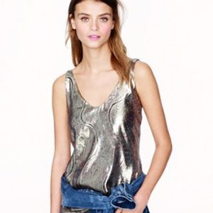 J. Crew Tops - J.crew Cate cami in gilded paisley