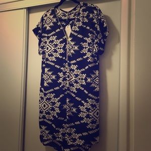 Vici Collection Dresses & Skirts - Black and white tribal shift dress
