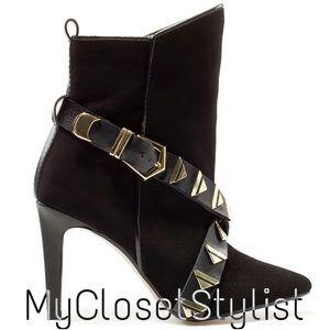 Zara Shoes - New✨RARE✨Zara NWT Studded High Heel Boots Booties8