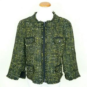 Per Se  Jackets & Blazers - Boucle Zip Up Jacket