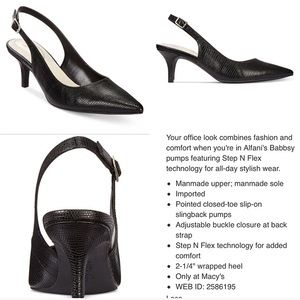 Alfani Shoes - Alfani Black Pumps 👠 NEW from Macy's