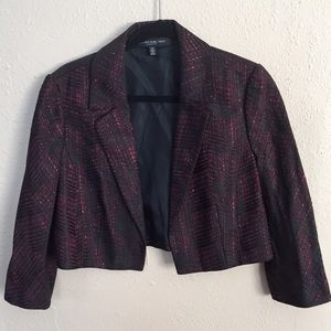 Carmen Marc Valvo Jackets & Blazers - 🎉HP🎉 Carmen Marc Valvo Red Black Metallic Jacket