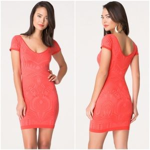 BeBe Orange BodyCon Dress