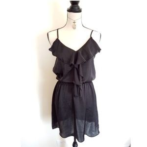 ❤BOGO Elegant black ruffle Dress