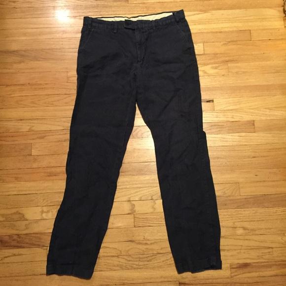 Aspesi Other - Aspesi mens blue cuffed linen pants - sz 54/ 36x32