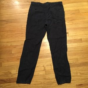 Aspesi Pants - Aspesi mens blue cuffed linen pants - sz 54/ 36x32