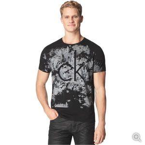 Calvin Klein Jeans Splatter Logo T-shirt Black