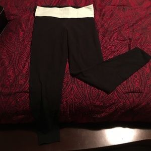 PINK foldover leggings (tight around ankles)