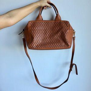 Brown laser cut handbag 👜