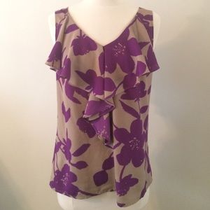 LOFT Floral Shell/tank/blouse