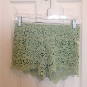 Lacey mint green shorts