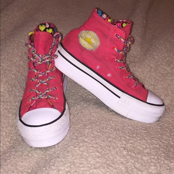 Converse Other - 🔴 Converse platform girls shoes size 13 2b7ced310a70